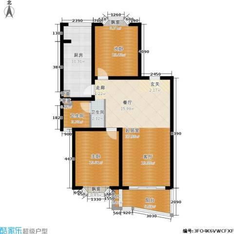 梦家园2室0厅1卫1厨100.00㎡户型图