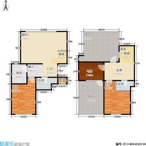 春天花园3室1厅2卫1厨161.00㎡户型图