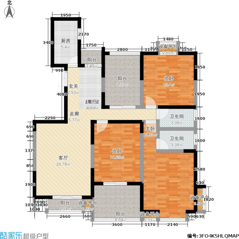 檀香园145.38㎡檀香园户型图三房二厅一卫(6/6张)户型10室