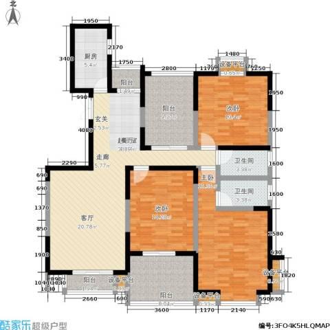 檀香园3室0厅2卫1厨145.00㎡户型图