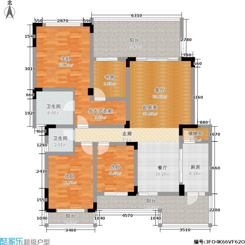 金沙西墅167.50㎡金沙西墅户型图A3三、五层三房两厅双卫带储藏室(1/3张)户型3室2厅2卫
