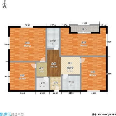 新城国际4室0厅2卫1厨177.00㎡户型图