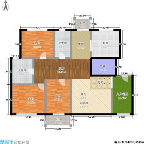 新城国际3室0厅2卫1厨165.00㎡户型图