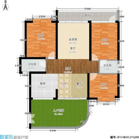 新城国际3室0厅2卫0厨138.00㎡户型图