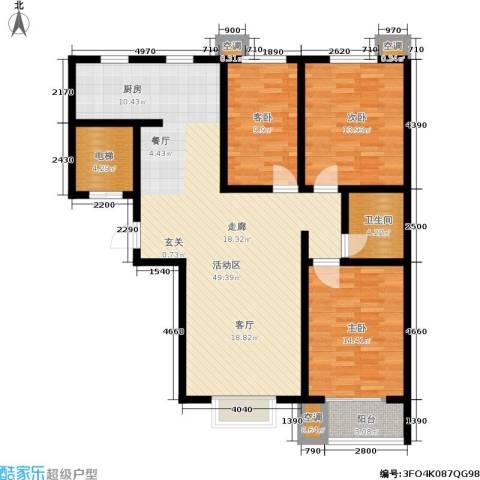 景祥苑3室0厅1卫0厨117.00㎡户型图