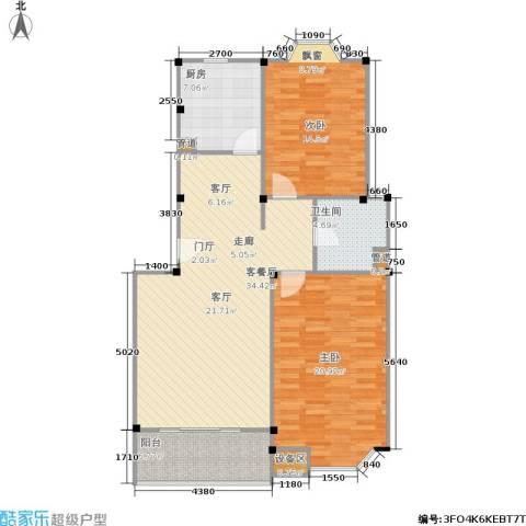 公园养生豪庭2室1厅1卫1厨120.00㎡户型图