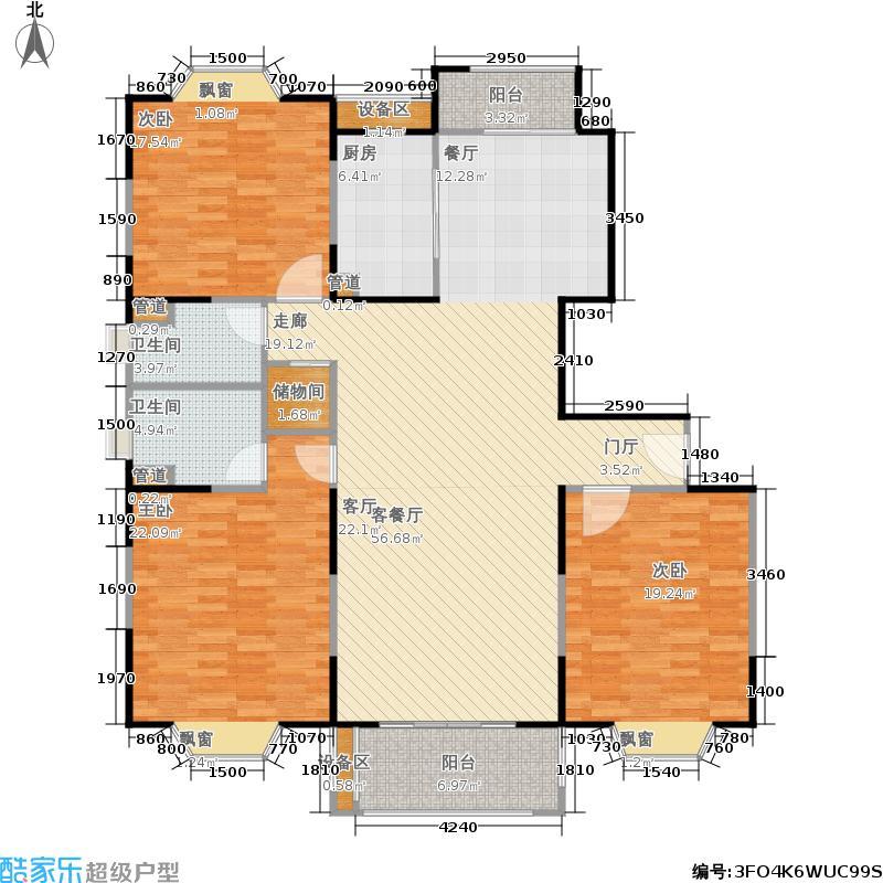 公园养生豪庭149.94㎡高层 三室二厅二卫149.94平方米户型