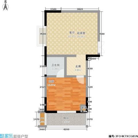 宏泽佳园1室0厅1卫0厨69.00㎡户型图