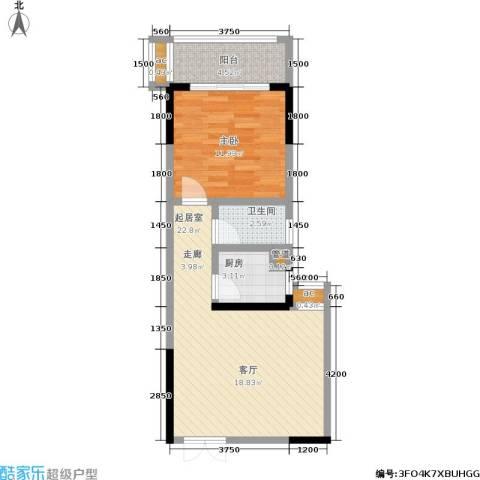 宏泽佳园1室0厅1卫1厨67.00㎡户型图