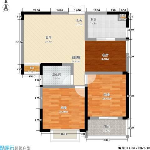 宏泽佳园2室0厅1卫1厨91.00㎡户型图