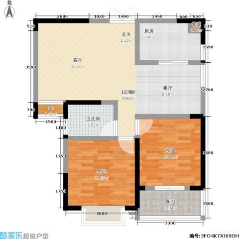 宏泽佳园2室0厅1卫1厨92.00㎡户型图