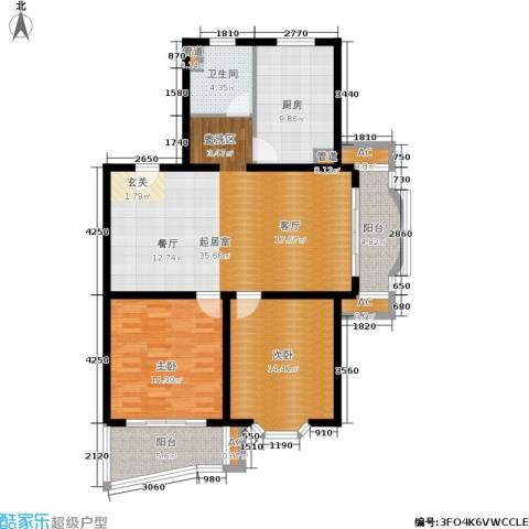 梦家园2室0厅1卫1厨105.91㎡户型图