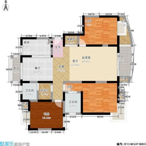 澳丽映象嘉园3室0厅2卫1厨136.00㎡户型图