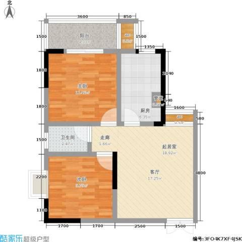 宏泽佳园2室0厅1卫1厨78.00㎡户型图