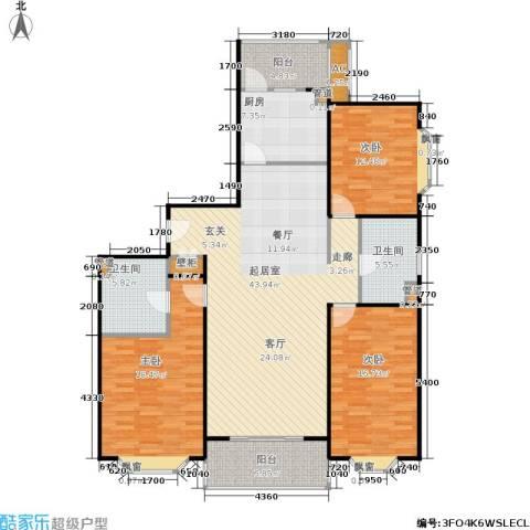 湘府花园3室0厅2卫1厨167.00㎡户型图