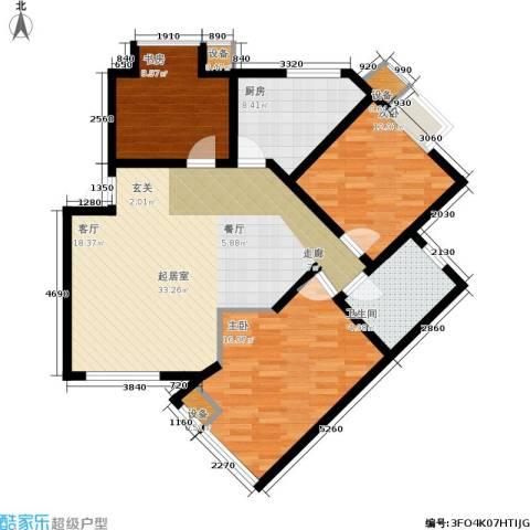 唯美尚品3室0厅1卫1厨100.00㎡户型图