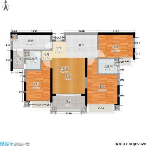 敏捷绿湖国际城3室0厅2卫1厨114.00㎡户型图