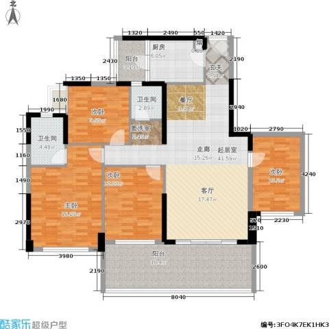 天悦城4室0厅2卫1厨143.00㎡户型图