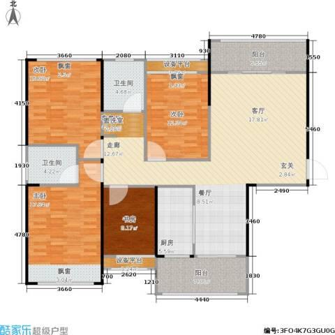 嘉福国际4室1厅2卫1厨174.00㎡户型图