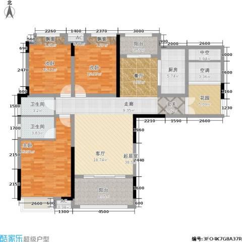 中盛圣地亚哥3室0厅2卫1厨168.00㎡户型图