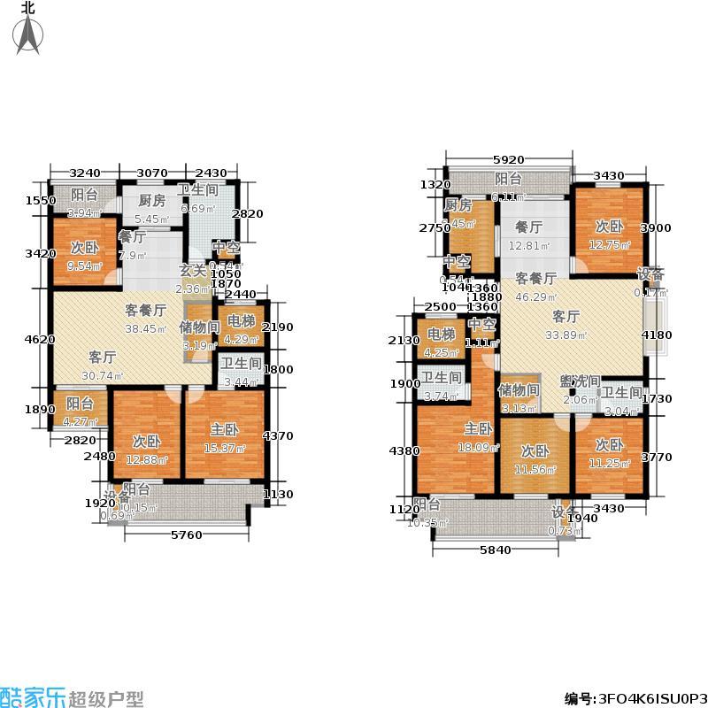 丰润世家园户型7室2厅4卫2厨