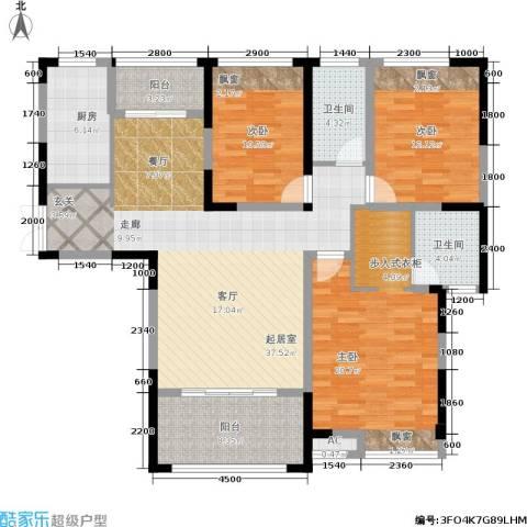 中盛圣地亚哥3室0厅2卫1厨154.00㎡户型图