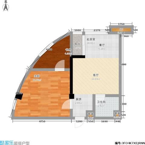 二零七六2室0厅1卫0厨43.32㎡户型图