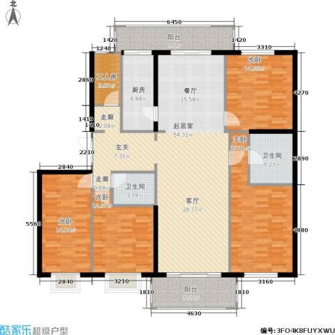 宅美诗4室0厅2卫1厨165.73㎡户型图