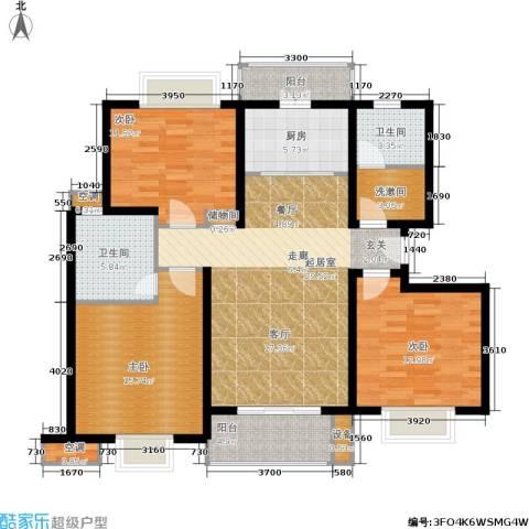 上海阳城3室0厅2卫1厨112.14㎡户型图