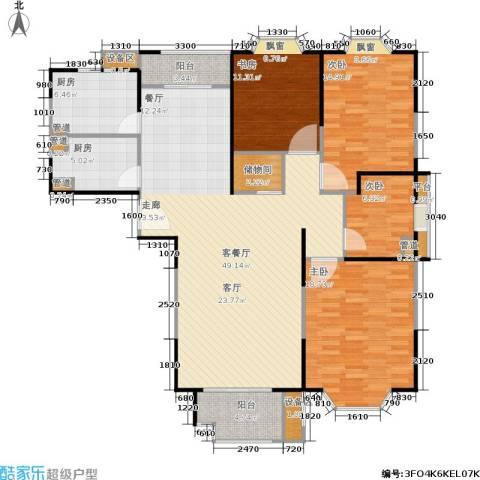 公园养生豪庭4室1厅0卫2厨170.00㎡户型图