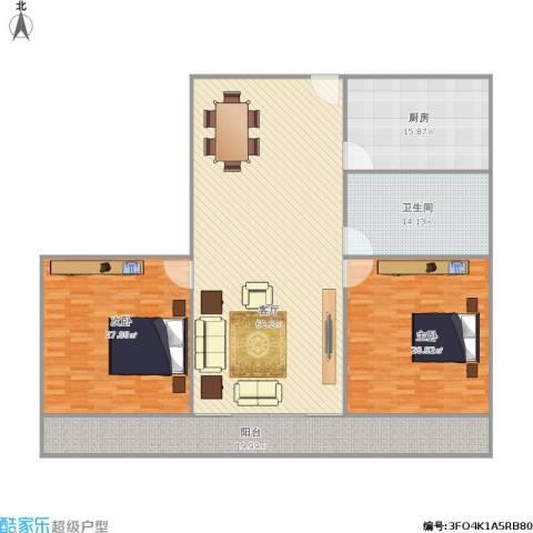 东兴花园2室1厅1卫1厨174.23㎡户型图