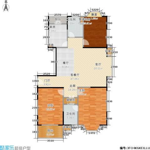 公园养生豪庭3室1厅2卫1厨171.00㎡户型图