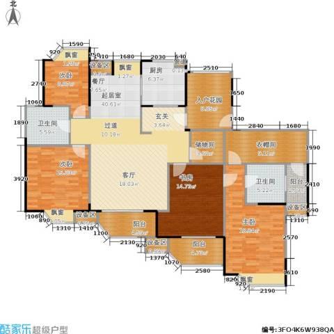 朗庭上郡苑4室0厅2卫1厨165.00㎡户型图
