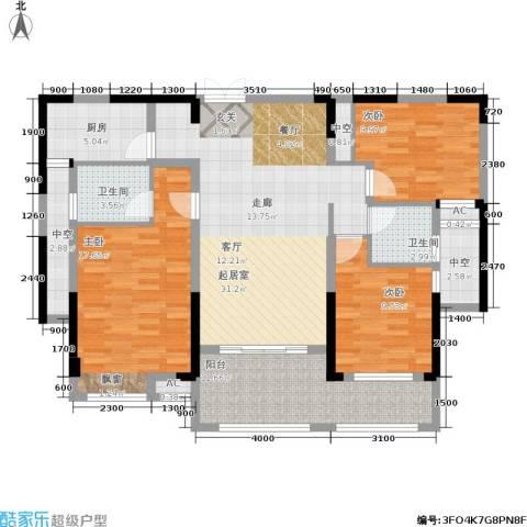 中盛圣地亚哥3室0厅2卫1厨144.00㎡户型图