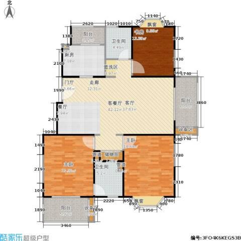 公园养生豪庭3室1厅2卫1厨169.00㎡户型图