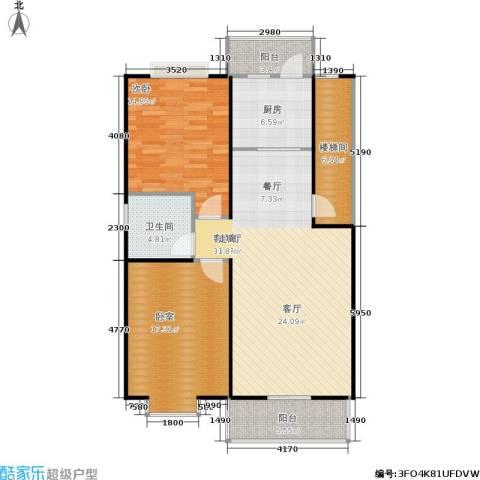 塞纳名邸1室1厅1卫1厨98.00㎡户型图
