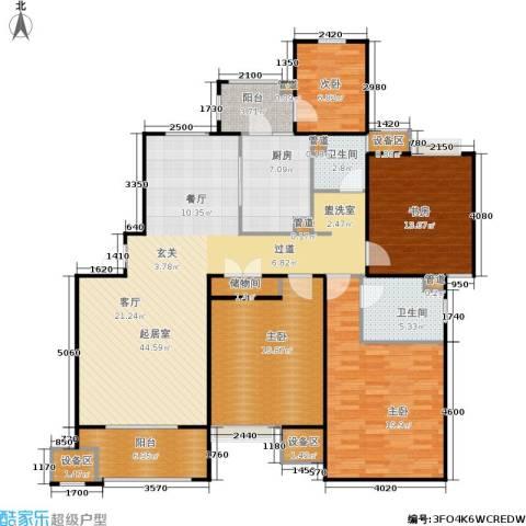 富顿街区4室0厅2卫1厨180.00㎡户型图