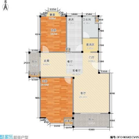 公园养生豪庭2室1厅1卫1厨131.00㎡户型图