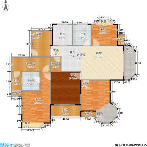 朗庭上郡苑4室0厅2卫1厨168.00㎡户型图