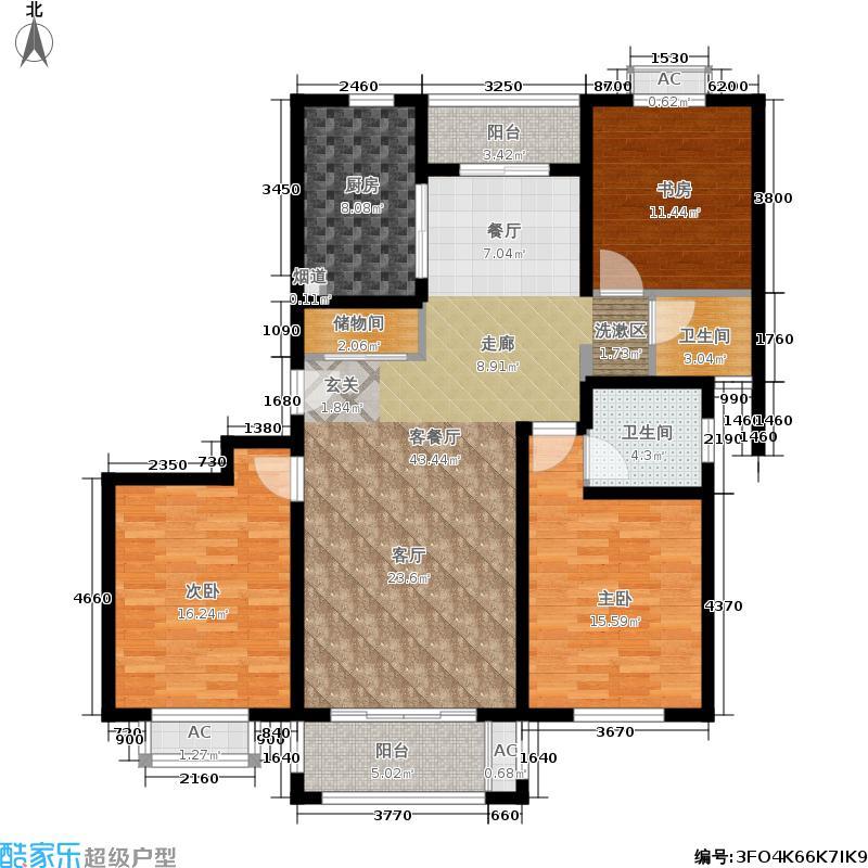 平阳苑132.44㎡平阳苑132.44㎡3室2厅2卫户型3室2厅2卫