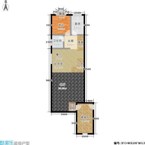 世纪春天1室0厅1卫1厨208.00㎡户型图