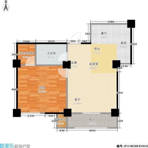 水木华庭1室0厅1卫0厨76.00㎡户型图