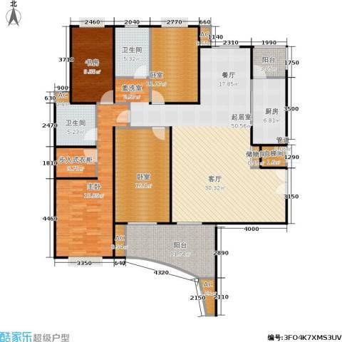 海德卫城2室0厅2卫1厨160.00㎡户型图