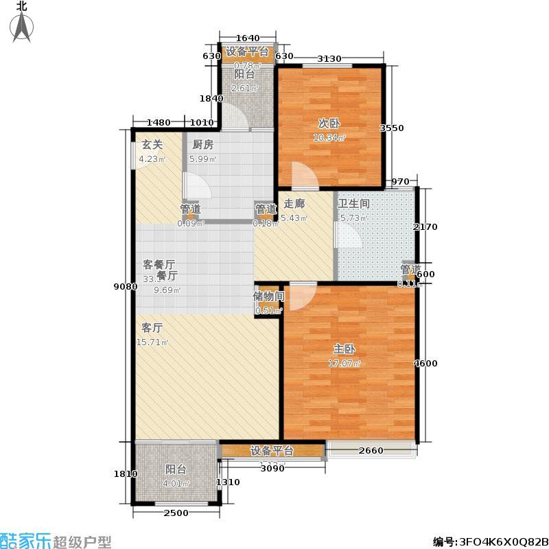 保利家园80.00㎡二房二厅一卫-89平方米-50套-嘉定房地(2009)预字0193号户型