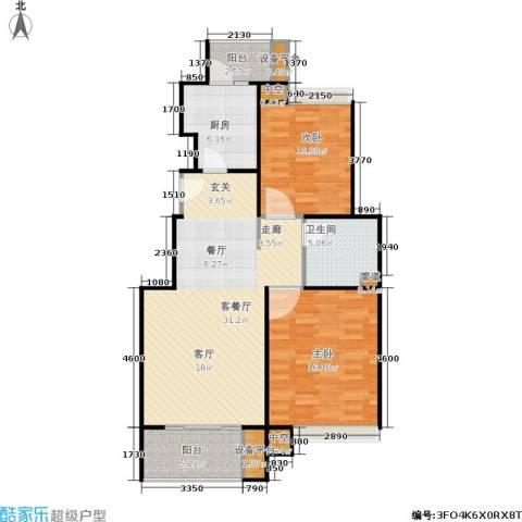 保利家园2室1厅1卫1厨108.00㎡户型图