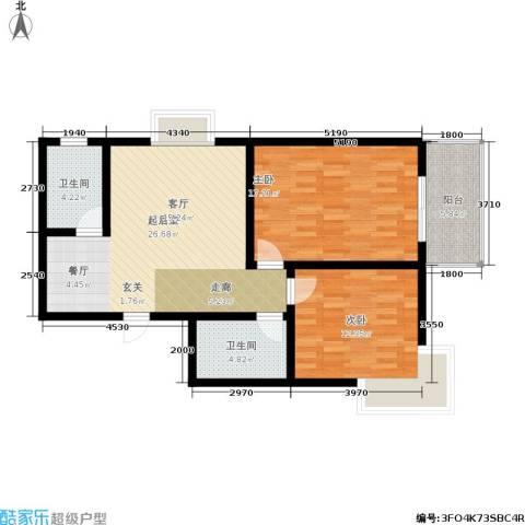 欣欣家园2室0厅2卫0厨101.00㎡户型图
