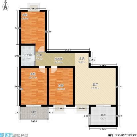 欣欣家园3室0厅1卫1厨142.00㎡户型图