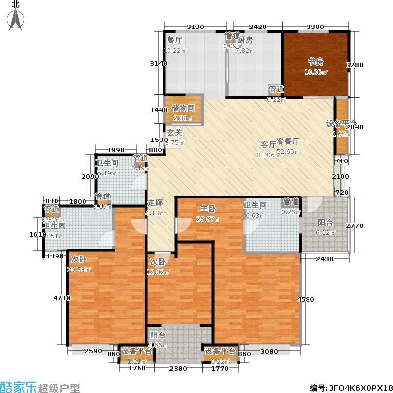 保利家园180.00㎡四房二厅三卫-180平方米-46套-嘉定房地(2009)预字0116号户型