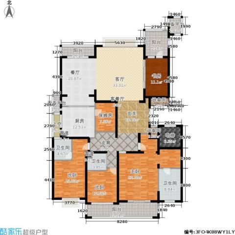 雅戈尔东海府4室1厅3卫1厨260.00㎡户型图