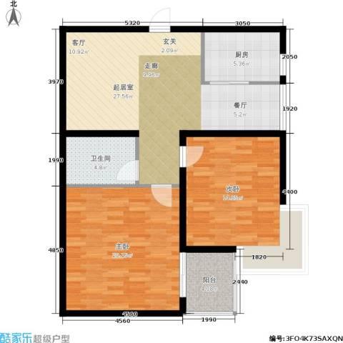 欣欣家园2室0厅1卫1厨108.00㎡户型图